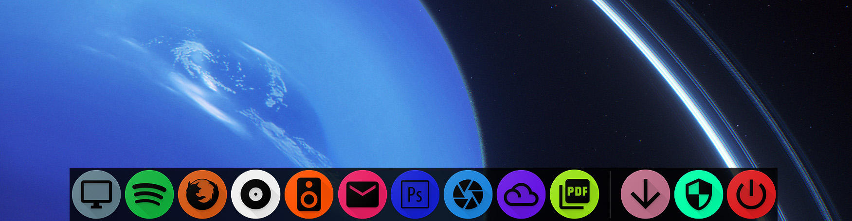Neptune Dock Theme v 1.1 (Rocket/Nexus Dock)