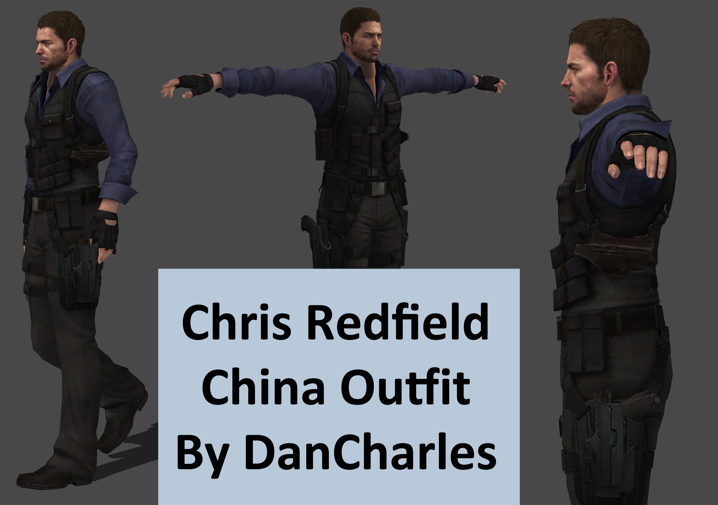 Chris Redfield China Outfit Xps Only By Dancharles On Deviantart
