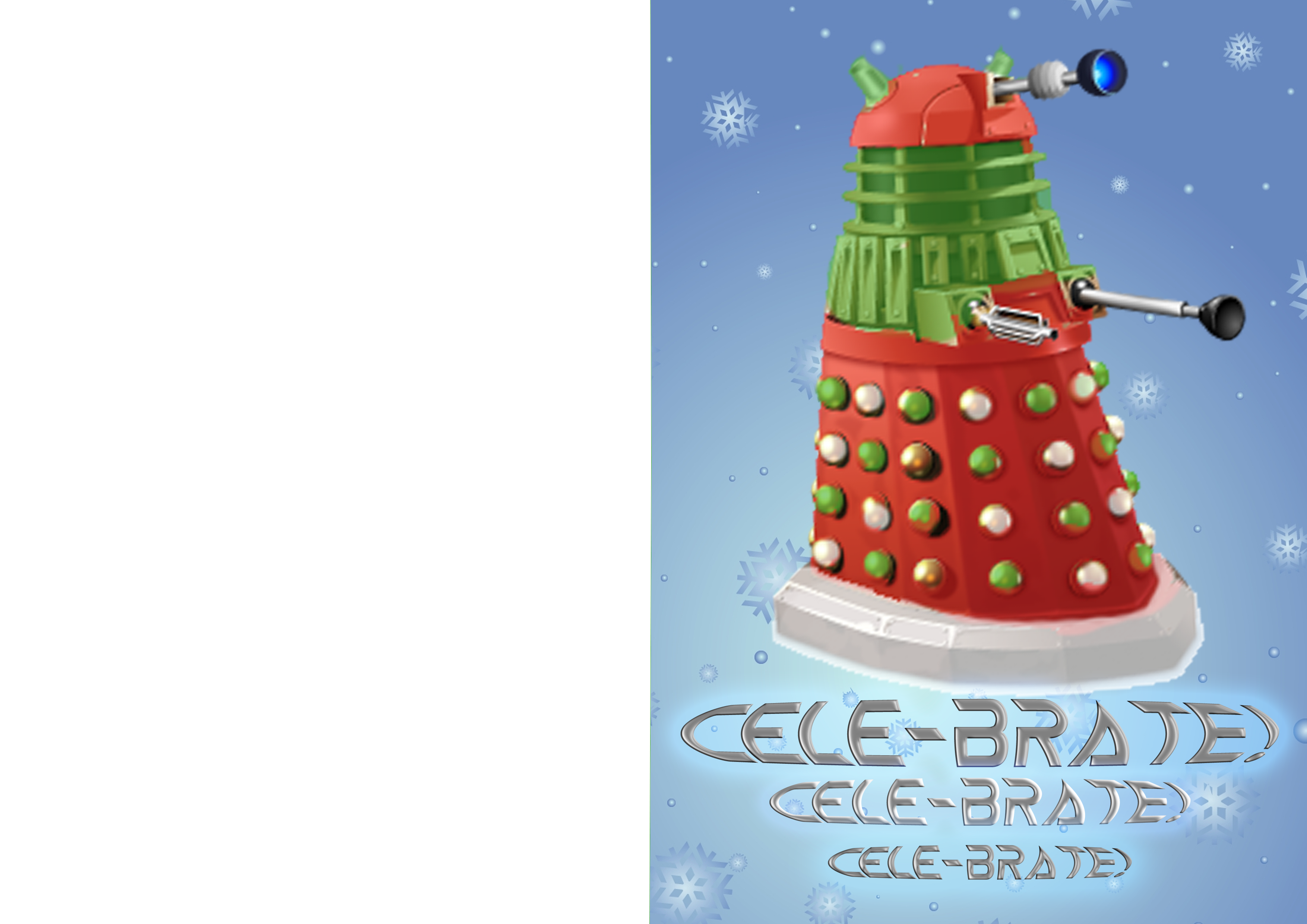 Doctor Who Christmas Cards.Doctor Who Cele Brate Christmas Card By Kestrelphantomwitch On