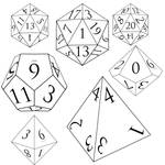 DnD dice (with numbers)