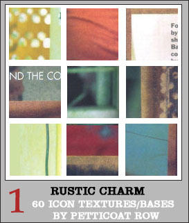 Rustic Charm Icon Textures I