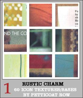 Rustic Charm Icon Textures III