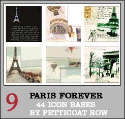 Paris Forever Icon Bases by petticoatrow