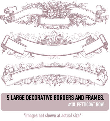 Deco Border Brushes by petticoatrow