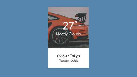 Cloudy | WORKING | Rainmeter Skin v1.8