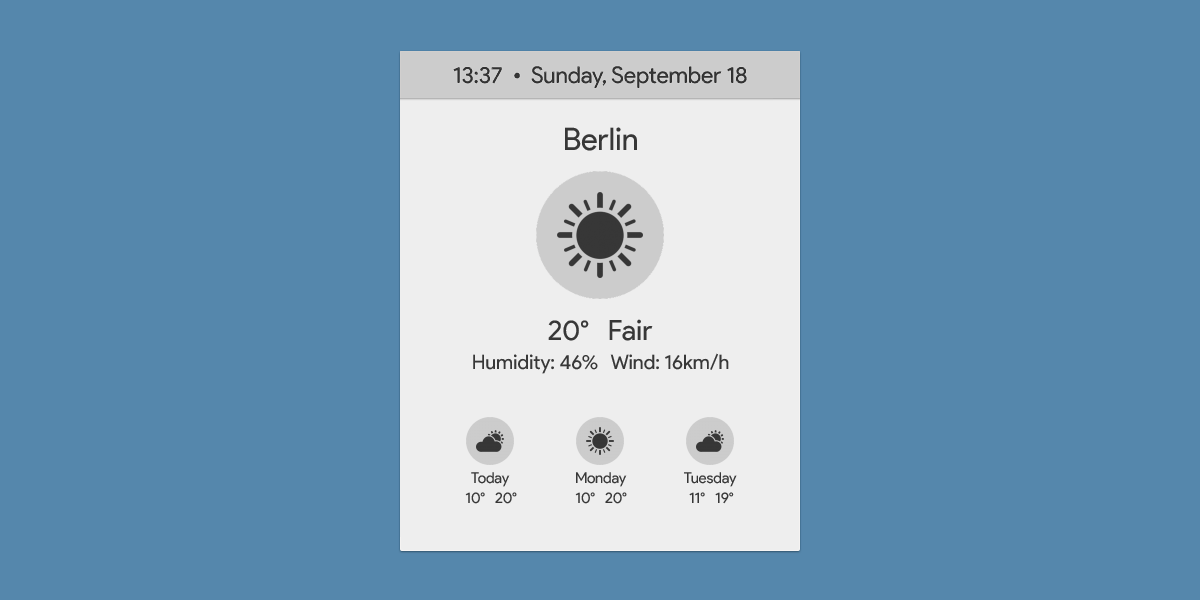 Sunny | WORKING | Rainmeter Suite v2.1