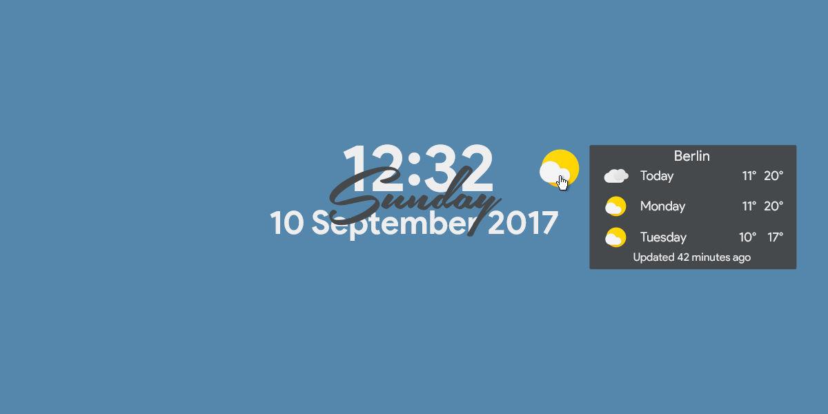 Sundays | WORKING | Rainmeter Suite v1.9.1