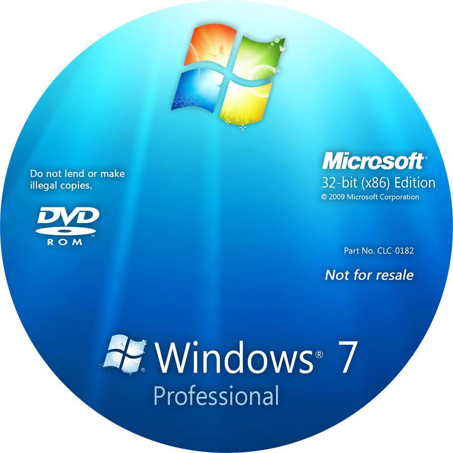 Windows 7 professional disc by nubixx on deviantart for Window 7 professional