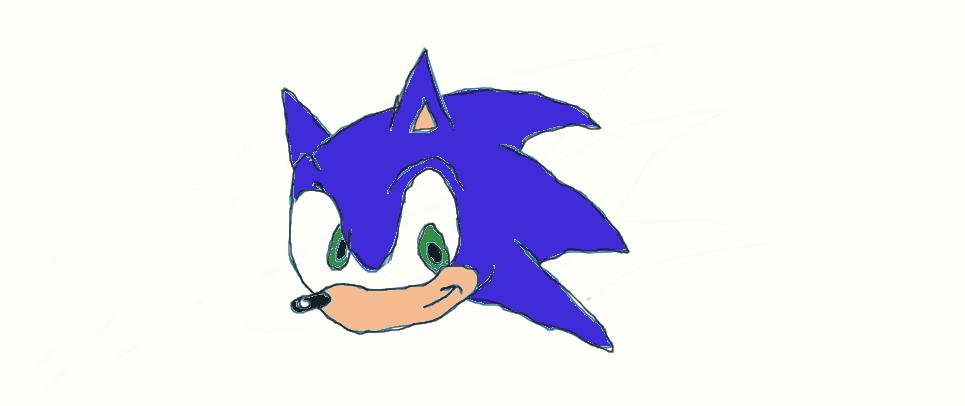 Sonic The Hedgehog Head By Frostfox90 On Deviantart