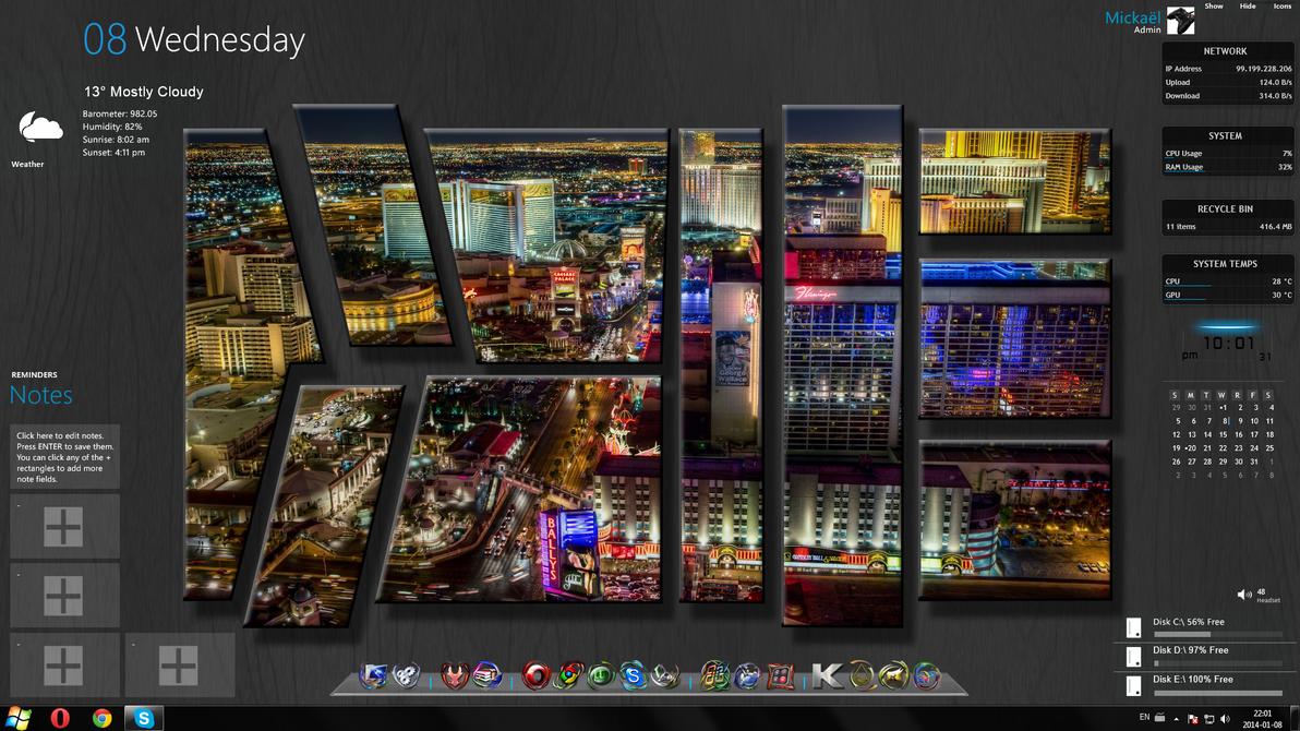 Las Vegas Uhd Windows Theme Rainmeter By Ellord333 On