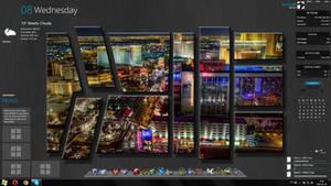 Las Vegas UHD (Windows theme, rainmeter)