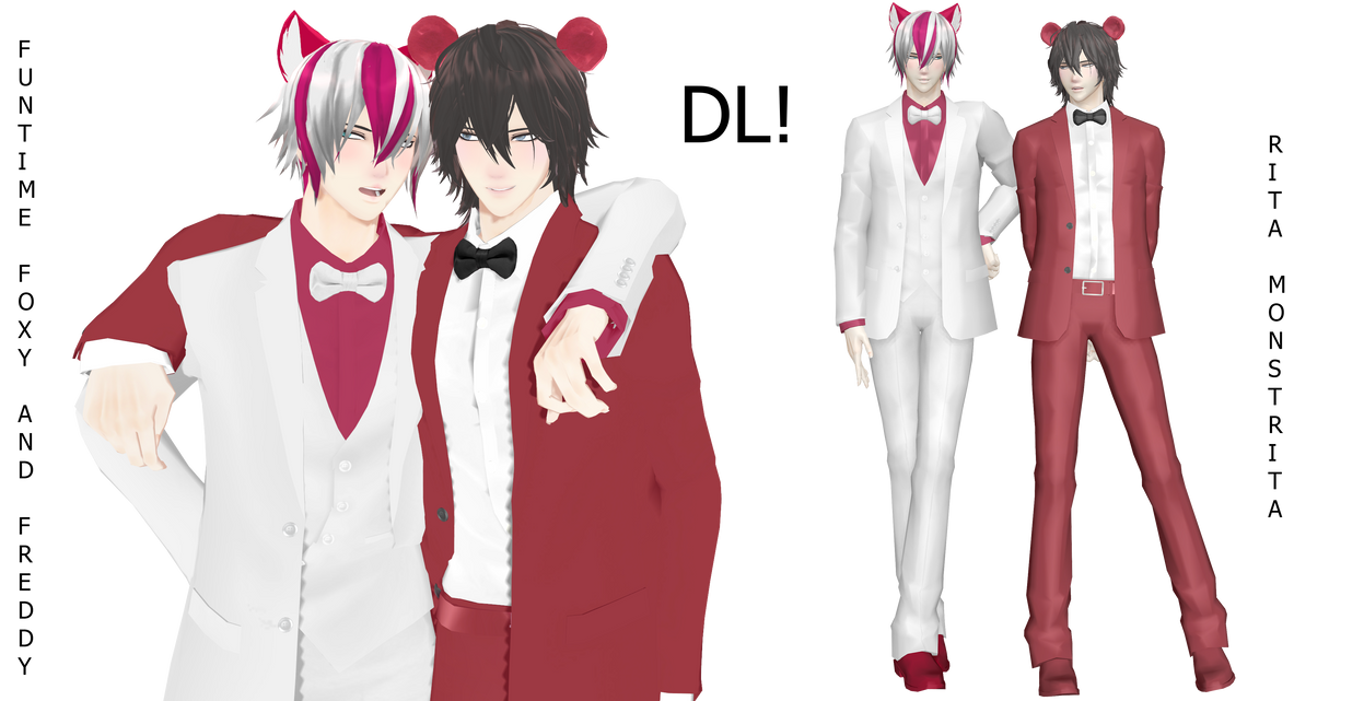 Mmd Funtime Freddy: [MMD Sister Location]Funtime Freddy And Foxy DOWN By Rita