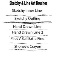 Sketchy and Line Art Brushes by Genflag