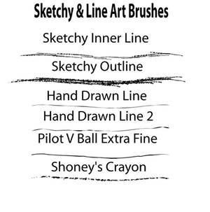 Sketchy and Line Art Brushes