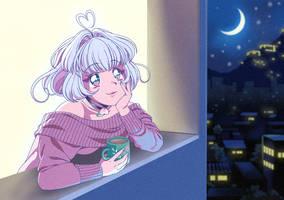 Off-duty Mahou Shoujo (90s anime screenshot)