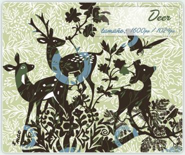 Deer wallpaper by mae-b