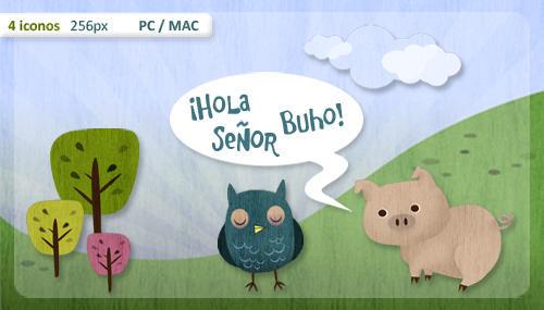 iconos hola senor buho by mae-b