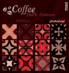 Coffee photoshop patterns by mae-b