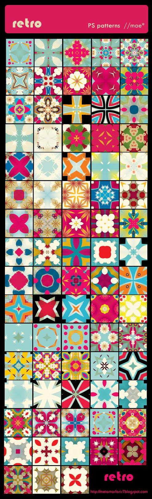 مكتبة الباترن 2013 ( اكبر تجميعه لملفات البآترن ) 2013 Retro_PS_patterns_by_mae_b