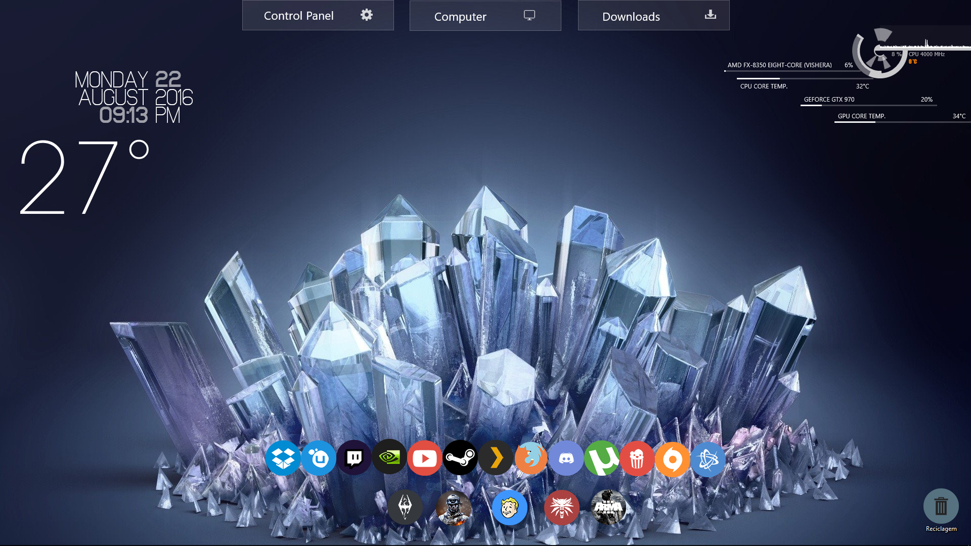 crystal cl native resolution - HD1920×1200