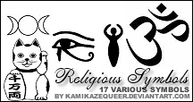 Religious Symbols by kamikazequeer