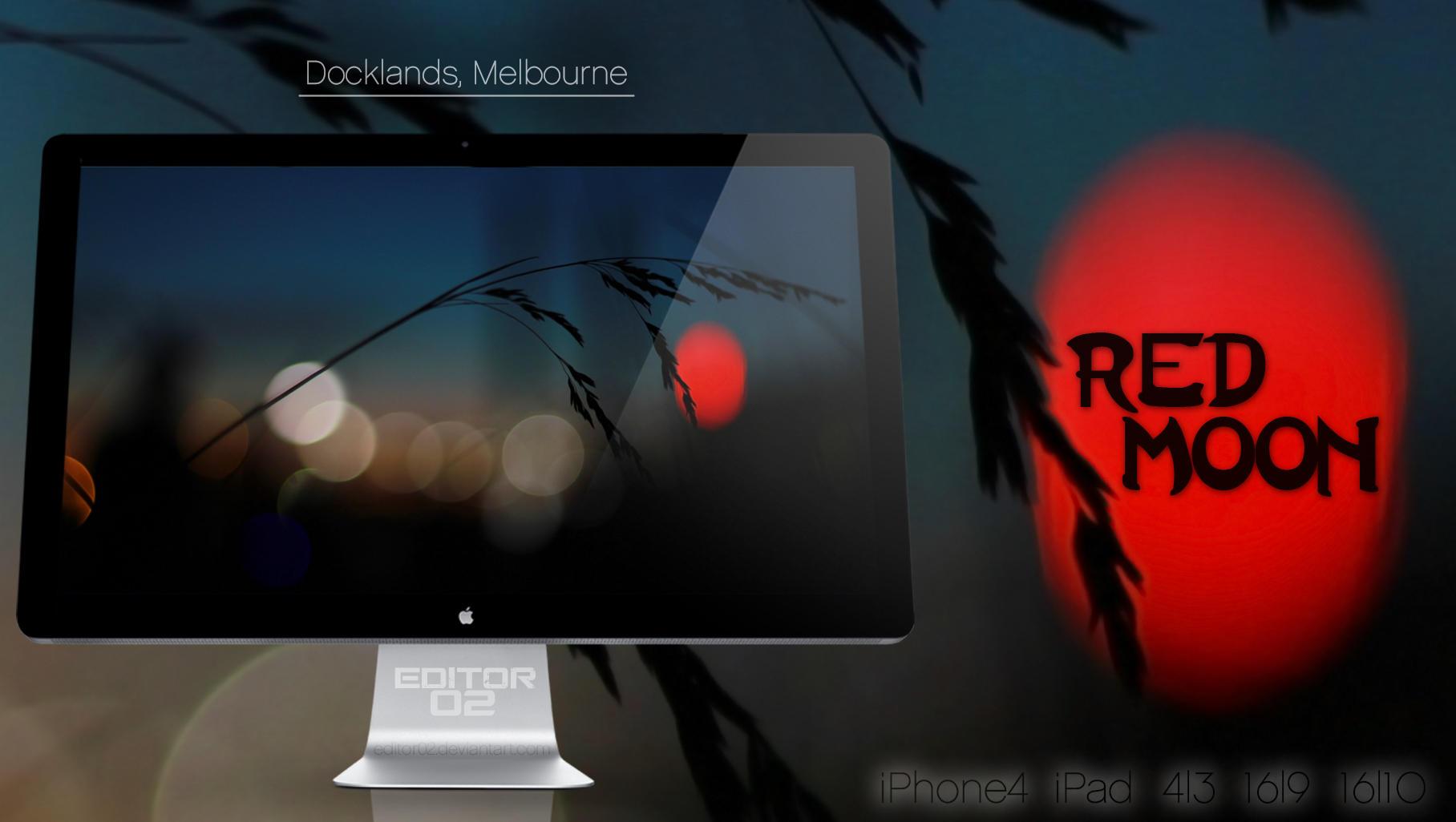 Red Moon - Wallpaper by GavinAsh