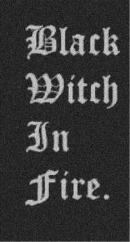 Black witch in fire 'song'