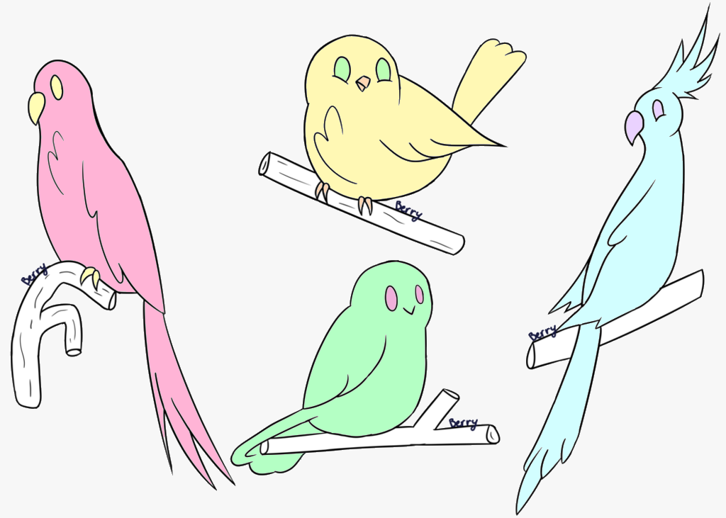 free (closed) bird adopts by horseggal101