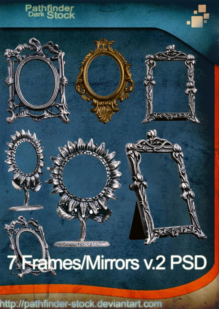 7 Frames and MirrorsIIPSD Pack by Pathfinder-Stock