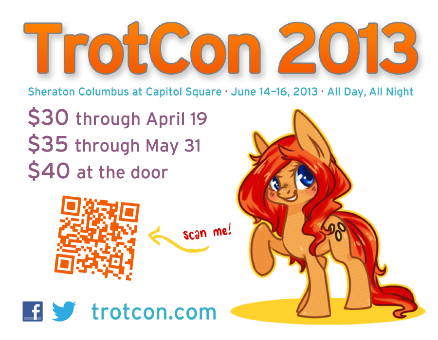 TrotCon 2013 Quarter-Page Flyer #1 by TrotCon on DeviantArt