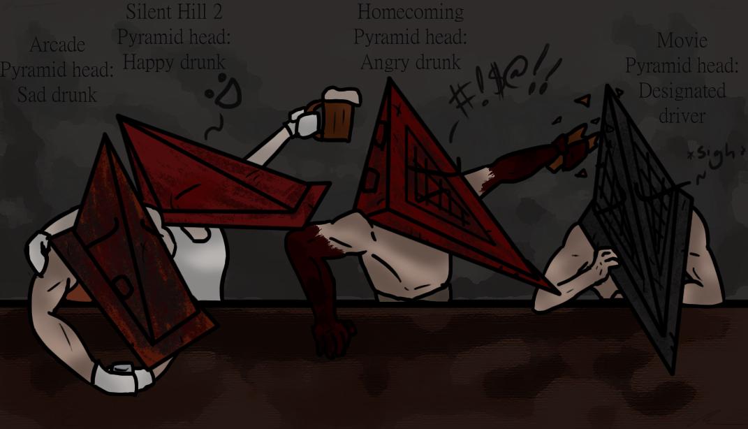 Drunk Pyramid Heads By Jinbeizamezama On Deviantart