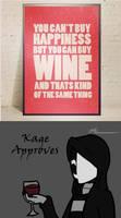 Wine = Happiness by Jinbeizamezama