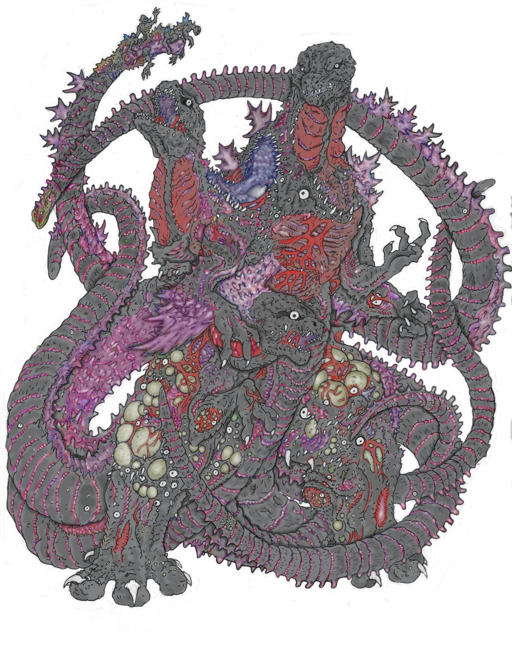 Shin Godzilla Meltdown (Colored) by Beastrider9