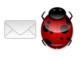 Ladybug and Mail icons by dakki000