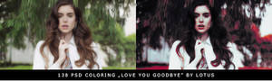 PSD  coloring Love You Goodbye by Lotus