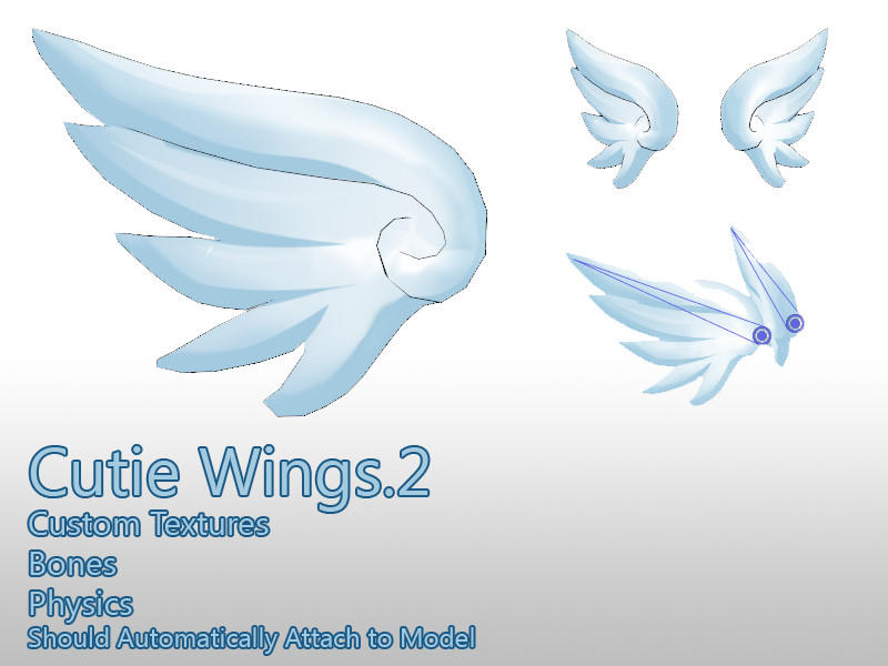 MMD- Cutie Wings.2 -DL by MMDFakewings18