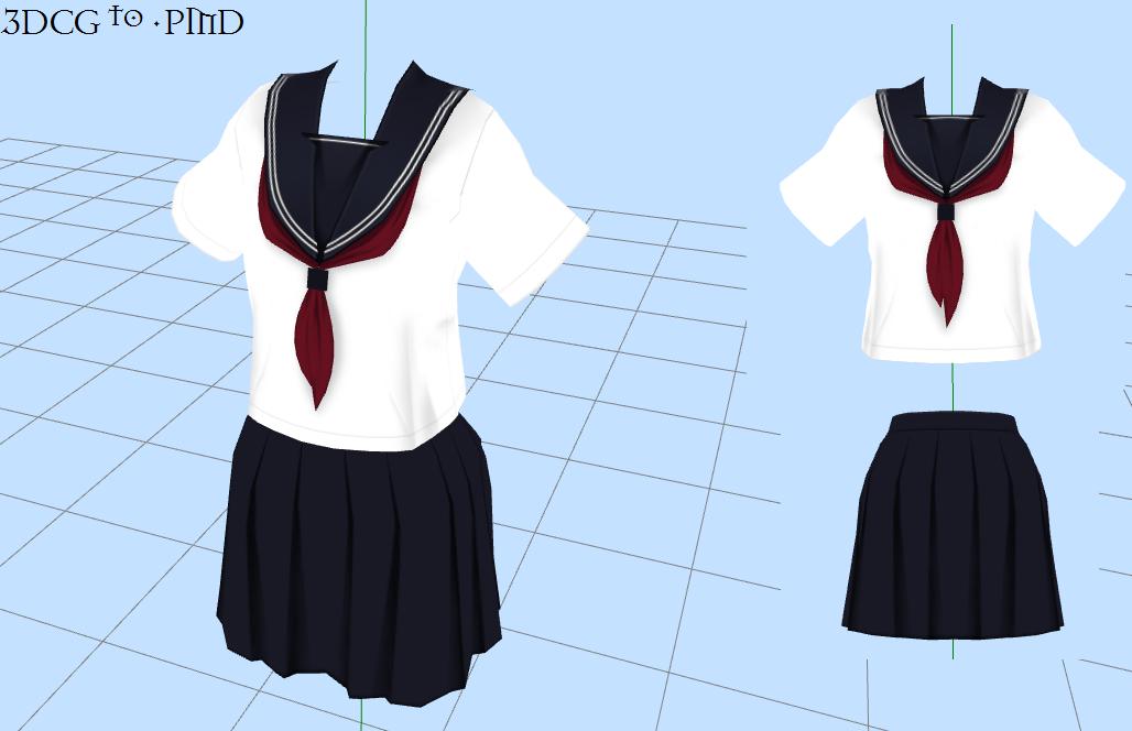 MMD -School Uniform -DOWNLOAD by MMDFakewings18