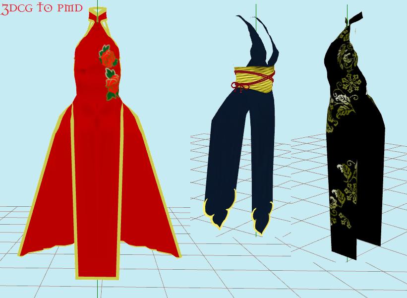 DeviantArt: More Like MMD Kimono models by KagamiReii