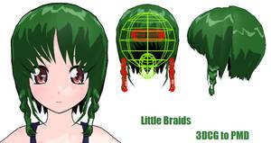 MMD- Little Braids.2 -DL by MMDFakewings18