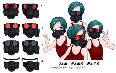 MMD- Gas mask pack.2 -DL by MMDFakewings18