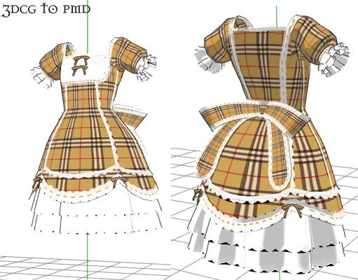 MMD- Plaid Dress-DOWNLOAD