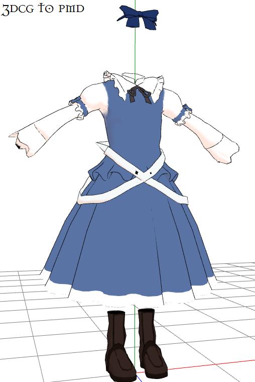 MMD- Dress set blu-DOWNLOAD by MMDFakewings18
