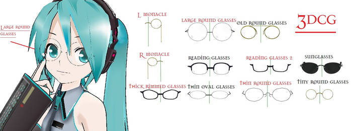 MMD- Glasses Pack- DOWNLOAD by MMDFakewings18