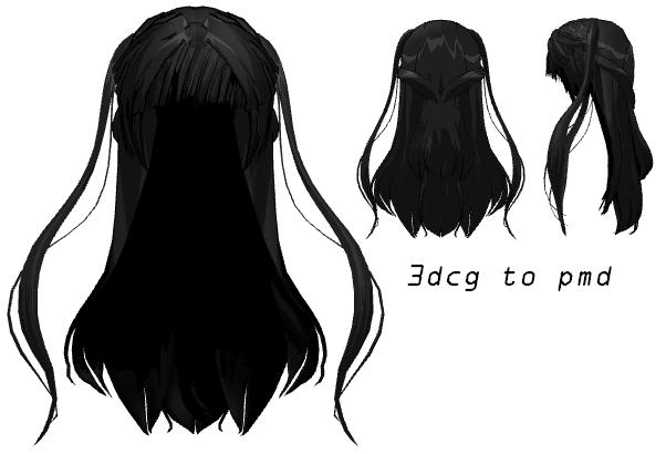 Скачать волосы для mmd