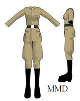 MMD- Fem. Hetalia Uniform- DL