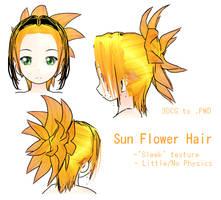 MMD- Sun Flower Hair- DL by MMDFakewings18