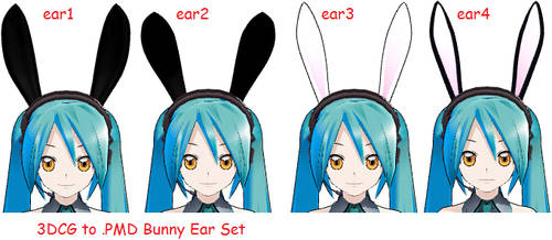 MMD- Bunny Ear Set -DL by MMDFakewings18