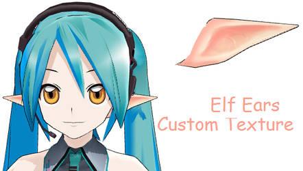 MMD- Custom Tex. Elf Ears -DL by MMDFakewings18
