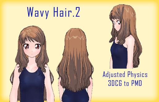 MMD- Wavy Hair.2 -DL by MMDFakewings18