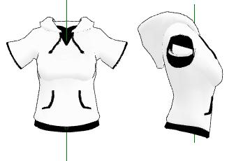 MMD- Short Sleeved Hoodie -DL by MMDFakewings18
